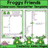 Teacher Newsletter Template - Frog Themed