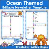 Teacher Newsletter Template - Ocean Theme