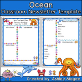 Teacher Newsletter Template - Ocean Theme