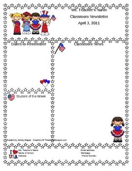 teacher newsletter template - Khafre