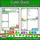 Teacher Newsletter Template - Primary Owls theme
