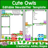 Teacher Newsletter Template - Primary Owls theme