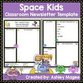 Teacher Newsletter Template - Space Kids Theme