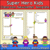 Editable Teacher Newsletter Template - Super Hero Kids Theme