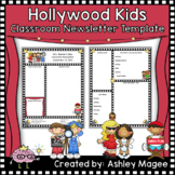 Editable Teacher Newsletter Template with a Hollywood Kids Theme