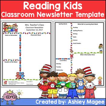 original-138150-1 Teacher Newsletter Templates on free preschool, owl theme, for first grade,