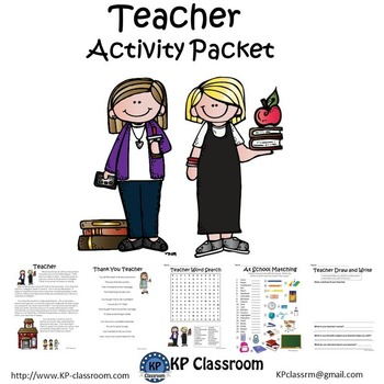 Teacher No Prep Activity Packet and Worksheets