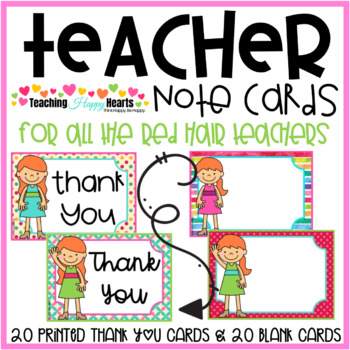 Teacher Note Cards {Red Hair}