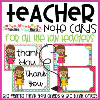 Teacher Note Cards {Tan Skin Tone}