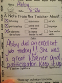 Teacher Note Home