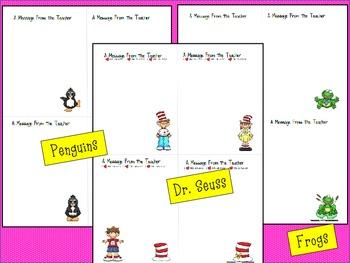 Note Paper Set for Teachers