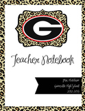 Teacher Notebook Cover (Leopard Print)