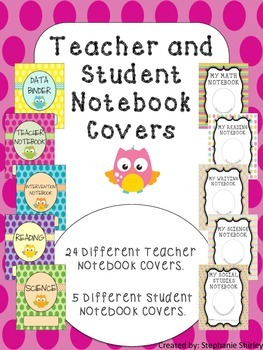 Teacher and Student Notebook Covers