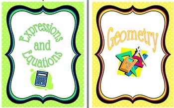 Teacher Notebook Covers:  Math 6-8