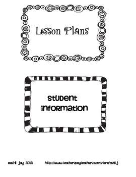 Teacher Notebook Organization Labels