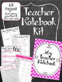 Teacher Notebook. Planner Pink & Grey. Binder. Arc. Lesson Plan Grade Book