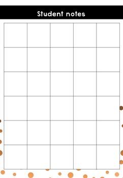 Teacher Notebook - copper confetti - Sept 2016 to June 2018