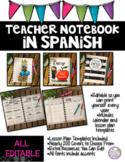 Teacher Notebook in Spanish
