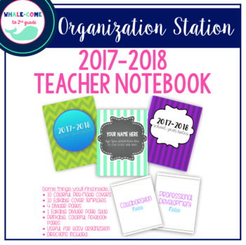 Teacher Notebook (with Editable Covers)