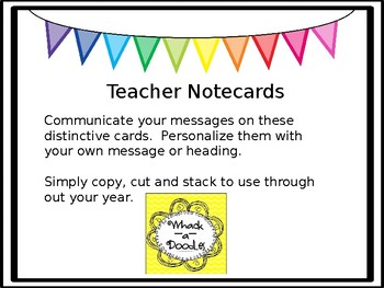 Teacher Notecards