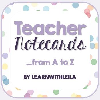 Educational Buzzword Teacher Notecards