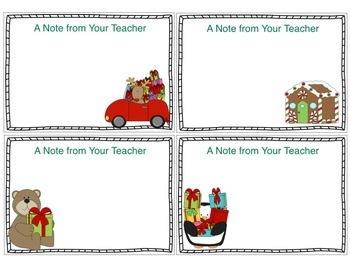 Teacher Notecards for Christmas