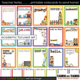 Teacher Notes - 15 printable ACADEMIC focused notecards