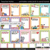Teacher Notes - 15 printable BEHAVIOR focused notecards