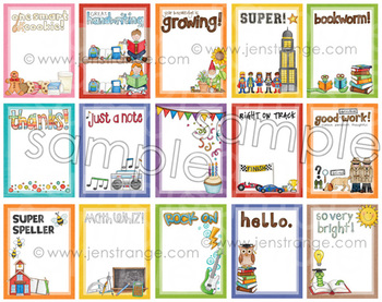 Teacher Notes - 30 printable notecards to send home