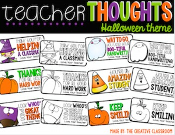 Halloween Teacher Notes