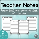 Teacher Notes Home