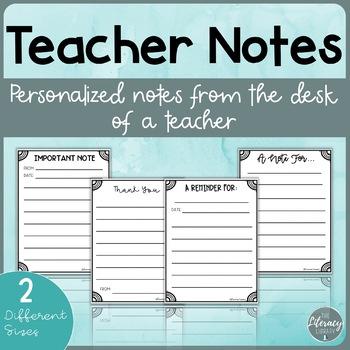 Teacher Notes Home