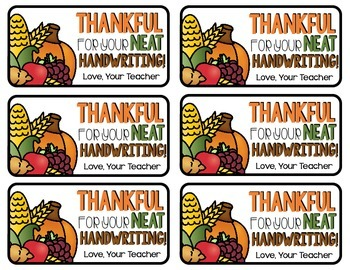 Thanksgiving Teacher Notes