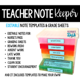 Teacher Notes and Forms - Note Keeper