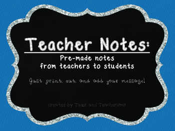 Teacher Notes for Students