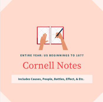 Teacher Notes for the Entire Year of US History: Beginnings to 1877