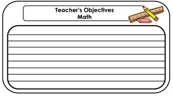 Teacher Objectives Posters