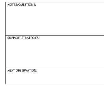 Teacher Observation Form, For Evaluations or Walk-Throughs, Editable Worksheet