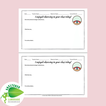 Teacher Positive Feedback Forms Sushi Theme