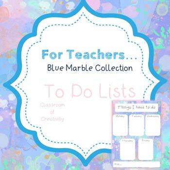 Teacher Organisation - Blue Marble To Do Lists