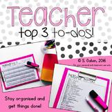 Teacher Organisation: Top 3 To-Dos