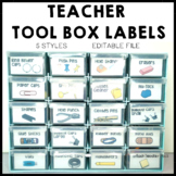 Teacher Tool Box Labels for Bunnings Organiser