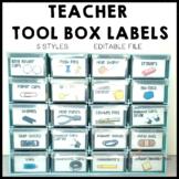 Teacher Tool Box Labels Editable
