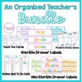 Teacher Organization BUNDLE- Labels, Lists, and MORE
