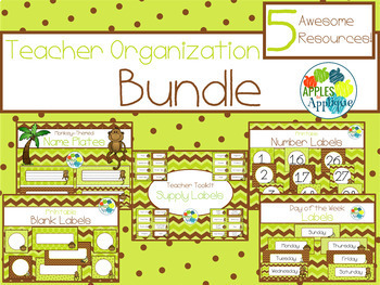 Teacher Organization BUNDLE in Monkey Theme