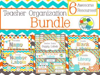 Teacher Organization BUNDLE in Candy Colors Theme