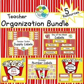 Teacher Organization BUNDLE in Popcorn Theme