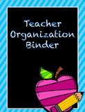 Teacher Organization Binder