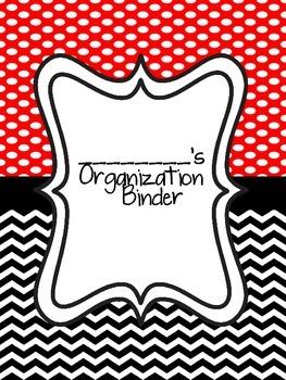 Teacher Organization Binder Black and Red