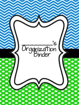 Teacher Organization Binder- Blue and Green